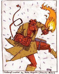 Hellboy by rybb (facebook.com/rybbs)