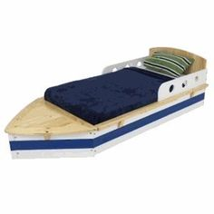 adorable boat toddler bed