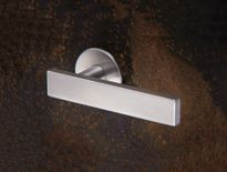 Modric lever handles on concealed Quadaxial fixing roses