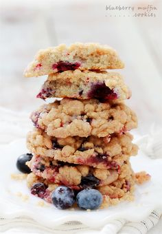 Blueberry Muffin Cookies  11-26-2014