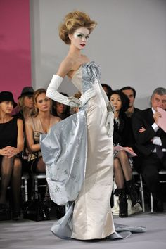 A model walks the runway at the Christian Dior Haute-Couture show as part of the Paris Fashion Week Spring/Summer 2010 at Boutique Dior on January 25, 2010 in Paris, France.
