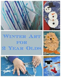Amazing winter art ideas for 2 year olds. These winter crafts for toddlers focus on the process of creating - and make such a lovely introduction to art! www.HowWeeLearn.com