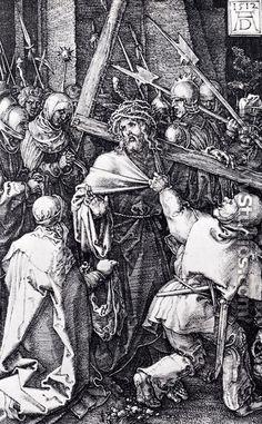 Bearing Of The Cross (Engraved Passion) - Albrecht Durer