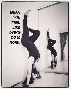 Yoga pose - fitness quote