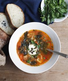 Ribolita by thejewelsofny:  Next time you have stale bread sitting around, try making ribollita, a classic Italian soup that transforms those forgotten scraps into a bowl of comfort. Hearty and healthy. #Soup #Ribollita #Vegetables #Healthy