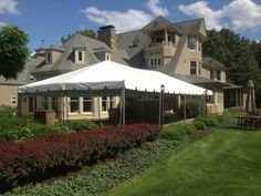 20 x 40 Frame Tent Rental (Installed over stone patio!)