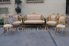 Set of 5 Extremely Fine Second Empire Giltwood French Third Quarter Salon Suite
