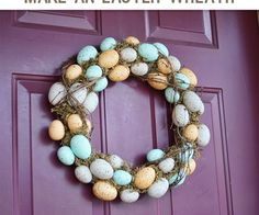 #Easter Wreath #DIY from @savedbyloves