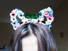 DIY:Como fazer tiara de gatinho com flores gastando apenas 10 reais