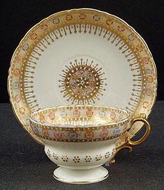 Antique Willets Belleek Tea Cup & Saucer