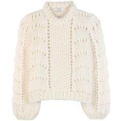 ce746bcbd61 Ganni The Julliard Mohair and Wool Sweater ($455) ❤ liked on Polyvore  featuring tops