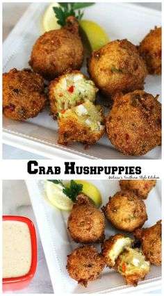 # lecker # lecker # PureWow # - Fish recipes and Seafood Recipes - Crab Recipes, Appetizer Recipes, Recipies, Crab Appetizer, Seafood Appetizers, Burger Recipes, Potato Recipes, Vegetable Recipes, Dinner Recipes