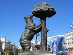 Bear and Madrono tree -- a traditional symbol of Madrid, Puerto del Sol