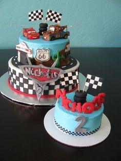 Cars lightening McQueen cake