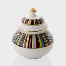 Pot À Sucre Thomas Goode En Porcelaine Fine À Rayures Multicolores