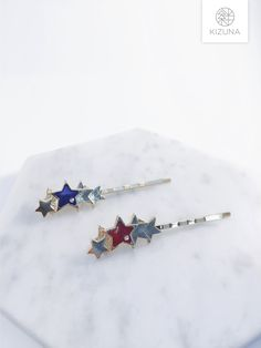 Hair Pins, Hair Accessories, Stud Earrings, Stars, Stylish, Silver, Gold, Gifts, Jewelry