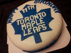 Toronto Maple Leaf cake. Cupcake Ideas, Cupcake Cakes, Cupcakes, Yummy Recipes, Yummy Food, Toronto Maple Leafs, Special Day, Food And Drink, Anna