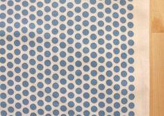 Japanese Kei Fabric - Honeycomb Dot - blue on white - fat quarter