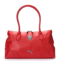 PUMA Ferrari LS Shoulder Hand Bag Boston Bag in Red (07159302) #gymbags