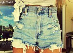 high waisted shorts #denim #shorts #jeans