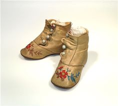 Pair of child's buttoned shoes, ca. College Library, Body Adornment, Old Photos, Clogs, Vintage Outfits, Baby Shoes, Footwear, Pairs, Children