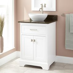 Photo Image  Alvelo Vessel Sink Vanity White Vessel sink vanity Vessel sink and Counter top