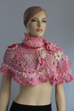 Freeform  Crochet Wrap  Wedding Shrug  Wearable Art par levintovich, $145.00