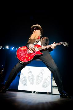 Sharp dressed man, aka Billy Gibbons of ZZ Top, rips the stage during a performance on June 24 in Amsterdam