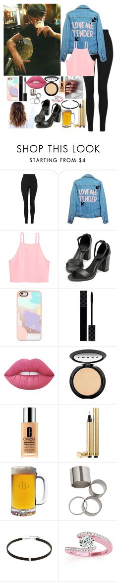"""Drinks with Niall"" by kennedey-lynn-freeman ❤ liked on Polyvore featuring Topshop, High Heels Suicide, Casetify, Gucci, Lime Crime, LORAC, Clinique, Yves Saint Laurent and Allurez"