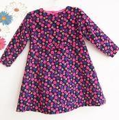 BRIGHT FLOWERS Baby Girl Dress 0 to 2yrs - via @Craftsy