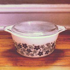 Vintage Pyrex Casserole Dish by PickledFurniture on Etsy, $10.00