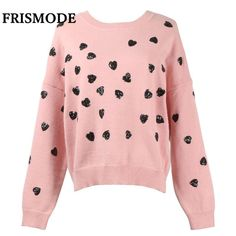 9ab88577917f Runway Tops Heart Sequined Winter Sweater Women Sweaters And Pulovers 2018  Pull Femme Hiver Ladies Knitted Pullover Jumper