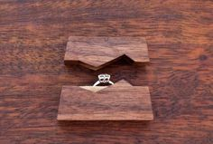 Ring box  The Mountain made from black walnut by TheNorthernForest