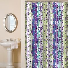 Our liner free shower curtain repels water is fast drying and has a...