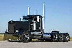Blacked out Kenworth