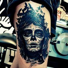 Gorgeous Leg Tattoo for Girl
