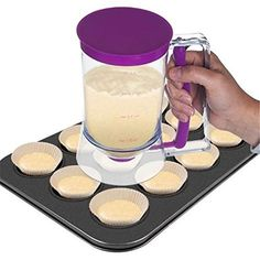 Yingwei Pancake Batter Dispenser Perfect for Baking of Cupcakes Waffles Cakes Muffin Mix Crepes Donuts or Any Baked Goods  Bakeware Maker with Measuring Label * This is an Amazon Affiliate link. Want additional info? Click on the image.