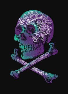 Tattooed Skull and crossbone by monsterandbones