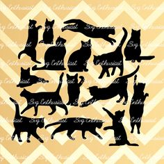 Cats SVG, Cats silhouette svg, Cats bundle SVG, Cats cut files, Cats Cricut, kawaii, Dxf, PNG, Vinyl, Eps, Cut Files, Clip Art, Vector, by SVGEnthusiast on Etsy