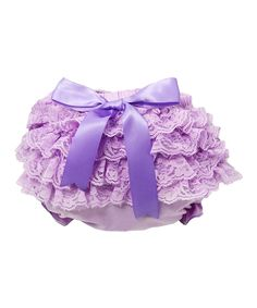 Loving this Dress Up Dreams Boutique Lavender Satin Ruffle Bloomers - Infant on #zulily! #zulilyfinds