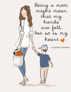 Wall Art for Women Being a Mom Boy Version by RoseHillDesignStudio