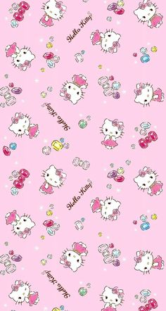 Image in Hello Kitty collection by May May on We Heart It Hello Kitty Iphone Wallpaper, Hello Kitty Backgrounds, Sanrio Wallpaper, Kawaii Wallpaper, Disney Phone Wallpaper, Wallpaper Stickers, Wallpapers Kawaii, Whatsapp Theme, Hello Kitty Tattoos