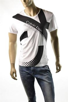 Calvin Klein T-shirt Mens Elements of Design Graphic Tee T Shirts Sz L Large NWT