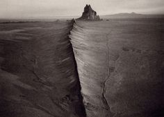 """Really cool perspective of Shiprock & """"great wall""""  Ute in the background."""