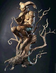 wooden statue -Pan