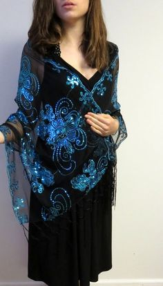 Evening wraps glorious in design, style and sequin beauty.
