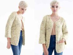 25 Ideas for crochet sweater vest pattern men Beige Cardigan, Hooded Cardigan, Crochet Cardigan, Vest Pattern, Baby Girl Crochet, Knit Jacket, Clothes For Women, Sweaters, Simple