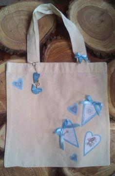 Textilszatyor díszítése mintás filccel! :) DIY decorated bag with felt