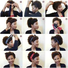penteados para cabelos crespos em transição - Pesquisa Google