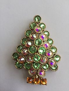Image result for poinsettia TREE brooch
